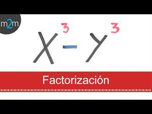 Factorización de una diferencia de cubos (x³ - y³)
