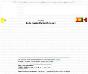 Diccionario de Latín-Español (dictionaries.travlang.com)
