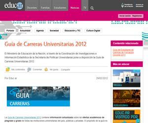 Guía de Carreras Universitarias 2012 (Argentina)