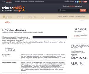 El Mirador. Marrakech (Educarchile)
