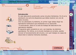 Laboratorio virtual de hidráulica. Tecnología para Secundaria