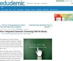 How I Integrated Classroom Technology With No Money | Edudemic