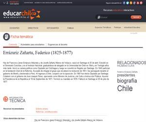 Errázuriz Zañartu, Federico (1825-1877) (Educarchile)