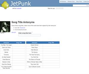 Song Title Antonyms