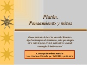 Platón. Pensamiento y mitos