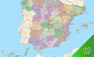 Mapa político de España escala  1:2.250.000