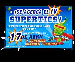 ¡¡IV Campeonato Supertics de cálculo mental GRATUITO!!