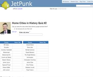 Home Cities in History Quiz 2