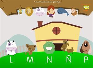 Las consonantes. Animales de la granja. Proyecto Medusa
