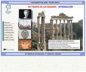 Historia. En tiempos de los romanos – Conocimiento del medio – 3º Ciclo de E. Primaria – Unidad didáctica.