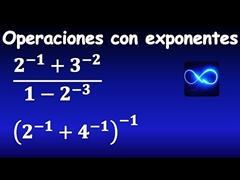 41. Operaciones con exponentes negativos, división, fracciones, paso a paso