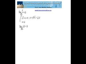 incógnitas en logaritmos