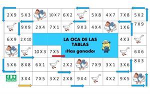 La oca de las tablas de multiplicar. Idoia Orduña
