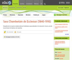 Chamberlain de Eccleston, Sara (1840-1916)