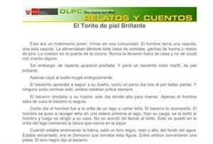 El torito de piel brillante (PerúEduca)