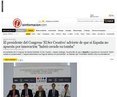 """El presidente del Congreso 'El Ser Creativo' advierte de que si España no apuesta por innovación """"habrá cavado su tumba"""""""