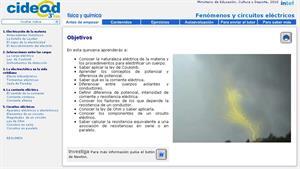 Fenómenos y circuitos eléctricos (cidead)