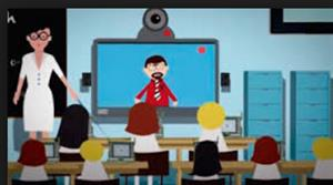 Videoconferencia escolar en francés