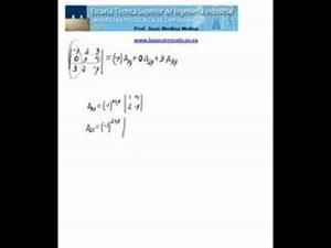 Cálculo de un determinante de orden 3 por una columna
