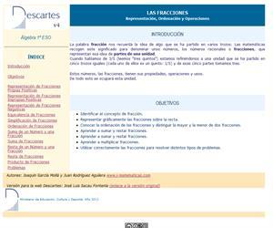Las fracciones. Representación, ordenación y operaciones (Descartes)