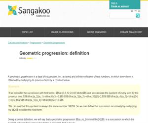 Geometric progression: definition