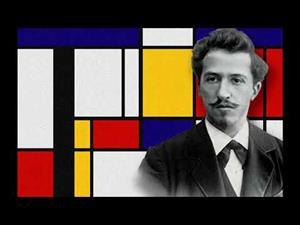 Composición II en rojo, azul y amarillo, de Piet Mondrian
