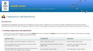 Comparatives and superlatives form of adjectives (web2.uvcs.uvic)