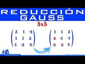 Reducción de matrices de 3x3 por método de Gauss