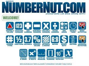Numbernut.com: matemáticas y problemas (en inglés)