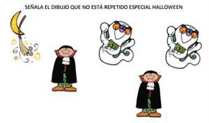 Láminas para trabajar la Atención (especial Halloween)