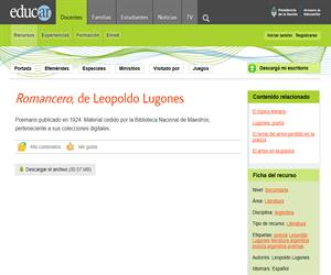 Leopoldo Lugones: Romancero