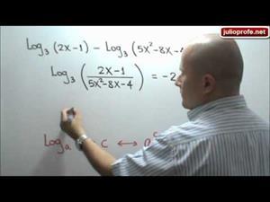 Ecuación que contiene logaritmos (JulioProfe)