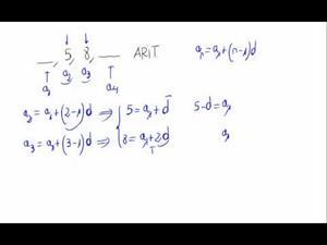 Términos de una progresión aritmética