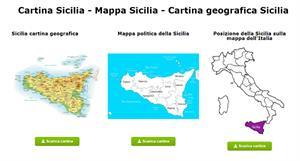 Cartina Sicilia - Mappa Sicilia - Cartina geografica Sicilia
