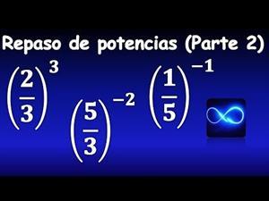 40. Repaso de potencias (Parte 2): fracciones con exponente negativo, y positivo