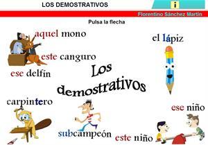 Los demostrativos (unidad didáctica)