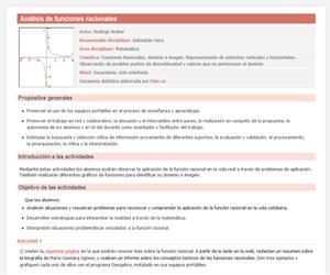Análisis de funciones racionales