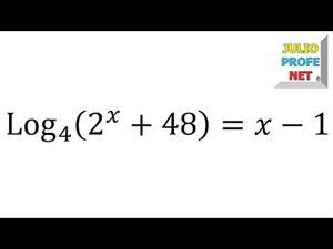 Ecuaciones logarítmicas - Ejercicio 13