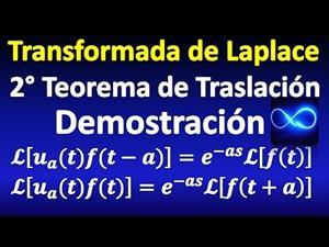Segundo teorema de traslación transformada de Laplace