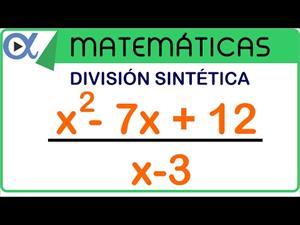 División sintética o regla de Ruffini ejemplo 1 de 3