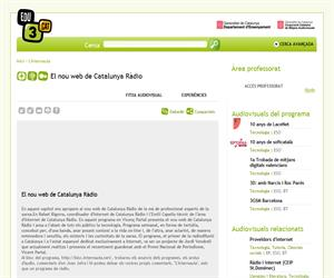 El nou web de Catalunya Ràdio (Edu3.cat)