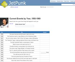 Current Events by Year, 1950-1969