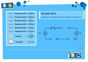 Circuito eléctrico: laboratorio de electricidad. Física y Química para Secundaria