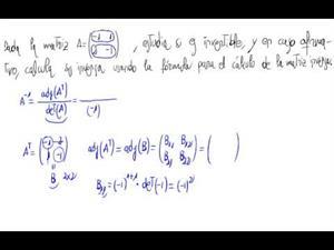 Inversa de una matriz 2x2 (Fórmula)
