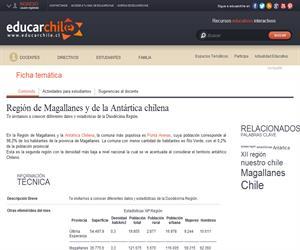 12ava Región Estadísticas (Educarchile)