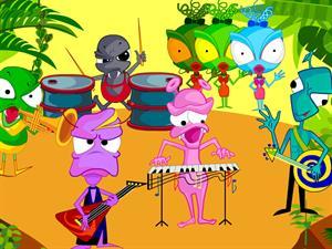 Alien Band, crea tu propia banda de música (1001juegos.com)