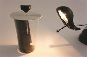 El efecto invernadero en un vaso. Un modelo sobre el cambio climático. Experimento de Medio ambiente.