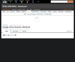 Google Gives Search a Refresh - WSJ.com