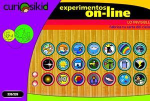 curioskid.com, experimentos sencillos online para niños sobre ciencias (Museo de los niños de Caracas)
