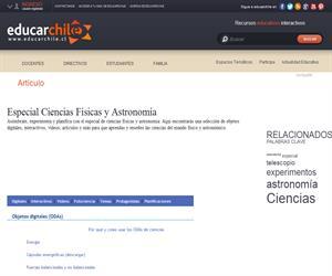 Especial Ciencias Físicas y Astronomía (Educarchile)